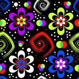 Abstract seamless floral pattern (vector). Abstract seamless black floral pattern (vector royalty free illustration