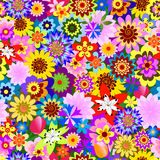 Abstract seamless  floral pattern (vector) Stock Photo