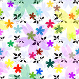 Abstract seamless floral pattern (vector) Stock Photos