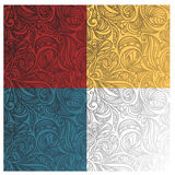 Abstract seamless floral  patterns Stock Images