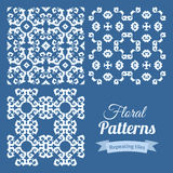 Abstract seamless floral patterns set Stock Photos