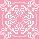 Abstract seamless floral pink background Stock Photo