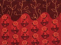 Abstract seamless floral red background. Royalty Free Stock Images