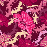 Abstract seamless floral texture Royalty Free Stock Photography
