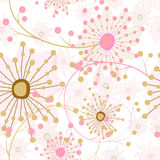Abstract seamless floral unusual pattern background Stock Photo