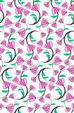 Abstract seamless florals pattern background with purple cute fl Royalty Free Stock Photo