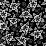 Abstract seamless flower ornamental pattern. Royalty Free Stock Photo