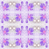 Abstract seamless flower pattern on white background. Stock Image