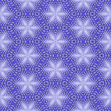 Abstract seamless fractal pattern of white snowflakes Royalty Free Stock Photography