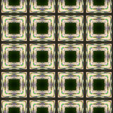 Abstract seamless generated background. Squares in dark green Royalty Free Stock Photography
