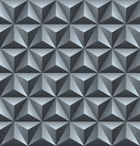 Abstract seamless geometric background with 3D elements. Grey re Royalty Free Stock Image