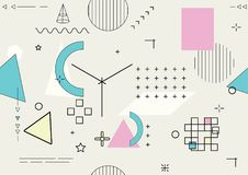 Abstract seamless geometric background - vector. Illustration Stock Photos