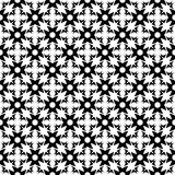 Abstract seamless geometric  black & white decorative pattern. Seamless geometric op retro  background Stock Photo