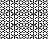 Abstract seamless geometric black & white oriental pattern Stock Images
