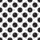Abstract seamless geometric black and white pattern Stock Photography