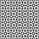 Abstract seamless geometric black & white star pattern Stock Photo