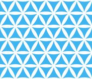 Abstract seamless geometric blue and white pattern Royalty Free Stock Photography