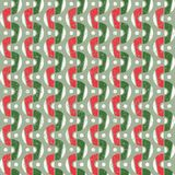Red and Green Abstract Geometric Christmas Pattern. Abstract Seamless Geometric Christmas Pattern in Retro Style. Red and Green Stock Photography