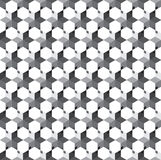 Abstract seamless geometric florals pattern background. Abstract seamless geometric pattern background and monochrome cube modern stylish texture tiles vector Stock Photography
