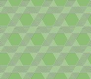 Seamless abstract geometric green hexagonal pattern. Abstract seamless geometric green pattern background made from hexagons royalty free illustration