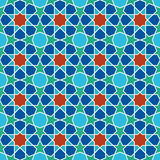 Abstract seamless geometric islamic mosaic Royalty Free Stock Images