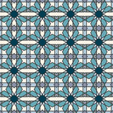 Abstract seamless geometric islamic mosaic Stock Photos