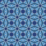 Abstract seamless geometric islamic mosaic Stock Images