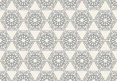 Abstract seamless geometric islamic wallpaper pattern Royalty Free Stock Photos