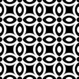 Abstract Seamless geometric monochrome floral pattern. Abstract Seamless monochrome geometric floral pattern. Vector illustration Stock Illustration