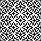 Abstract seamless geometric op black & white flower pattern Stock Images