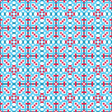 Abstract seamless geometric op blue & red pattern Royalty Free Stock Photo