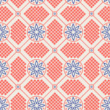 Abstract seamless geometric pattern. Graphic floral ornament in knitting style vector illustration