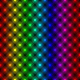 Rainbow graphic stars seamless background vector illustration