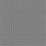 Abstract seamless geometric pattern background. Square spiral maze in black and white. Vector illustration Stock Photo