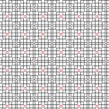 Abstract Seamless Geometric Pattern Of Black Grid Cube Graphic Design Background Vector Illustration. Abstract Seamless Geometric Ornament Pattern Of Grid Red Stock Illustration