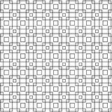 Abstract Seamless Geometric Pattern Of Black Grid Cube Graphic Design Background Vector Illustration. Abstract Seamless Geometric Ornament Pattern Of Grid Cube Stock Illustration