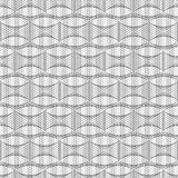 Abstract seamless geometric pattern. Black and white Royalty Free Stock Photo
