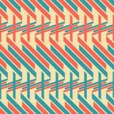 Seamless pattern of thick diagonal and horizontal stripes Royalty Free Stock Photo