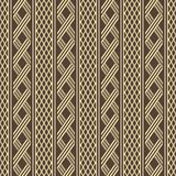 Wide stripes with alternate wicker lattices seamless pattern Stock Images