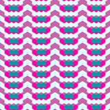 Abstract seamless geometric pattern with city elements frayed sprays triangles neon paint colored high-quality vector illustration. Seamless geometric pattern stock illustration