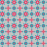 Abstract seamless geometric pattern, color elements on gray background. Repeat Royalty Free Stock Photography