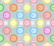 Abstract seamless geometric pattern of fancy varicolored shapes Stock Photography