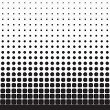 Abstract seamless geometric pattern from figures of different sizes. Halftone Stock Images