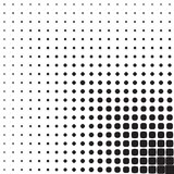 Abstract seamless geometric pattern from figures. Of different sizes, halftone Royalty Free Stock Photos