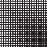 Abstract seamless geometric pattern from figures. Of different sizes, halftone Stock Image