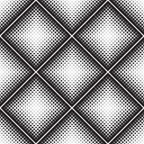 Abstract seamless geometric pattern from figures of different sizes. Halftone Royalty Free Stock Images