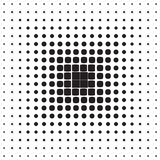Abstract seamless geometric pattern from figures. Of different sizes, halftone, vector Royalty Free Stock Photos