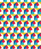 Abstract seamless geometric pattern. Figures with many angles. Directional movement Royalty Free Stock Photos