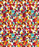 Abstract seamless geometric pattern. Figures with many angles. Directional movement Royalty Free Stock Image
