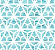 Abstract seamless geometric pattern. Figures with many angles. Directional movement stock illustration